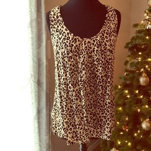 Tops - NWT Leopard Print Tank with Open Back